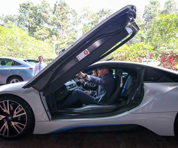 Pannes in the BMW i8 that was handed over to the BMW-NTU Future Mobility Research Lab, at the Nanyang Technological University.